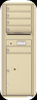 Versatile 5 Tenant Mailbox for sale from US Mail Supply With a parcel locker in Sandstone