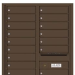 4C Horizontal Mailbox for Apartments Antique Bronze