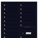 4C Mailbox for Multi Unit Residential Buildings Black