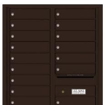 Florence 4C Indoor Horizontal Locking Mailbox Dark Bronze