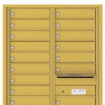 Auth Florence 4C Horizontal Mailbox for Sale Gold Speck
