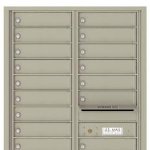 STD-4C Large Horizontal Locking Mailbox Gray