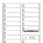 USPS Approved 4C Locking Horizontal Mailbox White