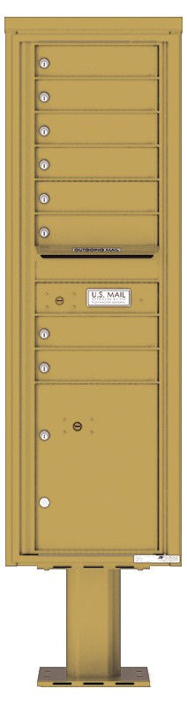 Pedestal Mounted 4C Mailboxes – 8 Tenant Mailboxes