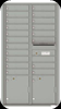 Indoor 4C Horizontal Mailbox with 19 Doors Silver Speck