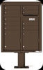 4CADD-09-P Nine Tenant ADA Max Height 4C Pedestal Mailbox Antique Bronze