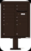 4CADD-09-P Nine Tenant ADA Max Height 4C Pedestal Mailbox Dark Bronze
