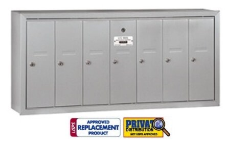 7 Door Vertical Mailbox for USPS & Private Delivery