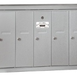 5 Slot Commercial Vertical Mailboxes Aluminum