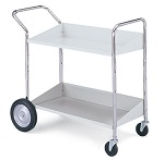 2 Shelf Mobile Bin Cart #B176
