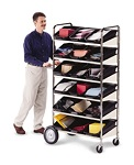 6 Shelf Mobile Bin Cart #B237