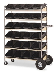 Super Capacity Movable Bin Cart #B240
