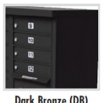 12 Door Apartment Neighborhood Cluster Box Dark Bronze