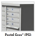 Decorative 12 Door Cluster Mailbox Gray