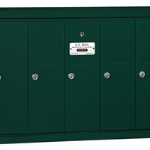 5 Door Residential Vertical Mailbox Green