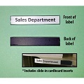 Deluxe Magnetic Backed, Plastic ID Shelf Label with Cardboard Insert
