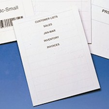 "600 Label Inserts and Instruction Sheet for 1-3/4"" Long Labels"