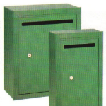 Recess Mounted Letter Drop Boxes in Green