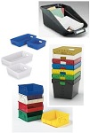 Mail Sorting Bins, Totes and Corrugated Plastic Trays