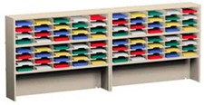 120 Inch Mail Sorters with 80 Pockets and 2 Risers #P151