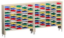 120 Inch Mail Sorters with 120 Pockets and 2 Risers #P154
