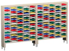 120 Inch Mail Sorters with 160 Pockets and 2 Risers #P155