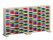 120 Inch Mail Sorters with 160 pockets and Caster Bases #P156