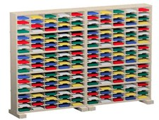 120 Inch Mail Sorters with 200 Pockets and Caster Bases #P157