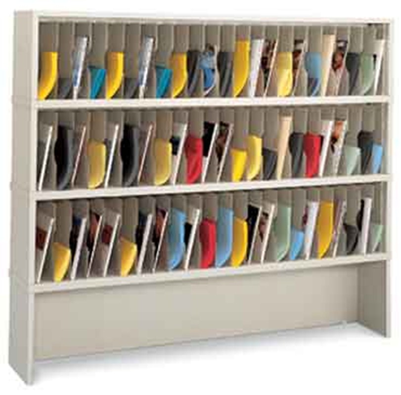 72 W Vertical Mail Sorter With 69