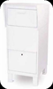 Courier Drop Box for Package Delivery White