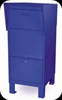 Courier Drop Off Box for Parcel Delivery Blue