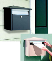 residential mail house, locking residential mailbox