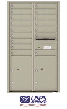 Florence 4C15D-16 16 Door Indoor Horizontal Commercial Mailbox for Apartments