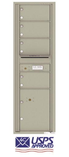 Florence 4C15S-04 4 Door Horizontal Commercial Mailbox