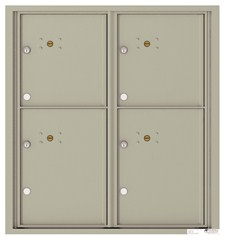 Versatile ™ 4C Mailbox – 9-Doors High – 4 Parcel Lockers