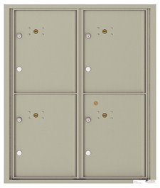 Versatile ™ 4C Mailbox – 10-Doors High – 4 Parcel Lockers