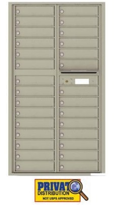 4C16D-29 29 Door Private Use Commercial Horizontal Mailbox