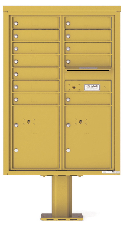 Pedestal Mounted 4C Mailboxes – 12 Tenant Mailboxes