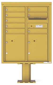 Pedestal Mounted 4C Mailboxes – ADA Max Height - 8 Tenant Mailboxes