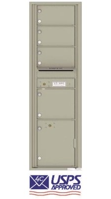 4C16S-04 4 Tenant Door 4C Horizontal USPS Approved Mailbox