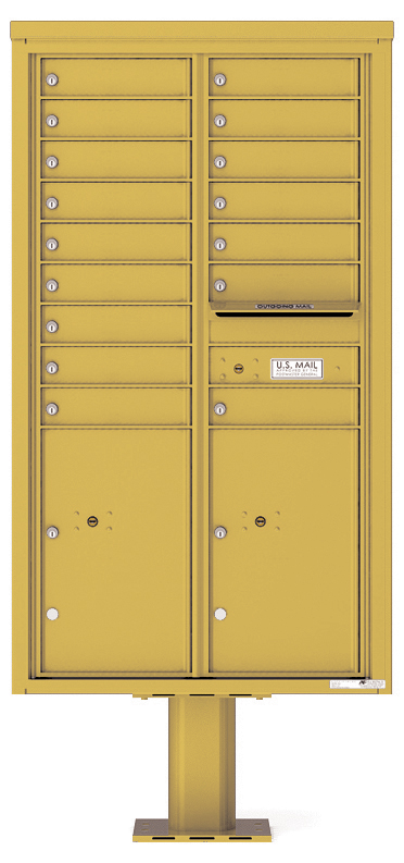 Pedestal Mounted 4C Mailboxes – 16 Tenant Mailboxes