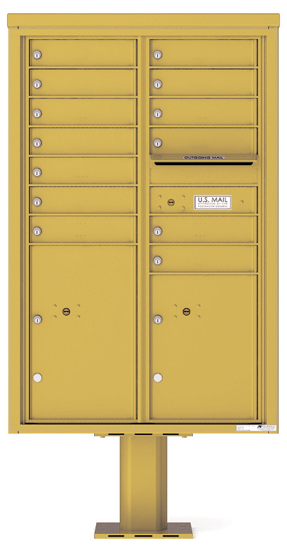 Pedestal Mounted 4C Mailboxes – 13 Tenant Mailboxes