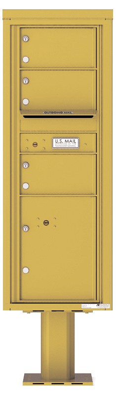 Pedestal Mounted 4C Mailboxes – 3 Tenant Mailboxes