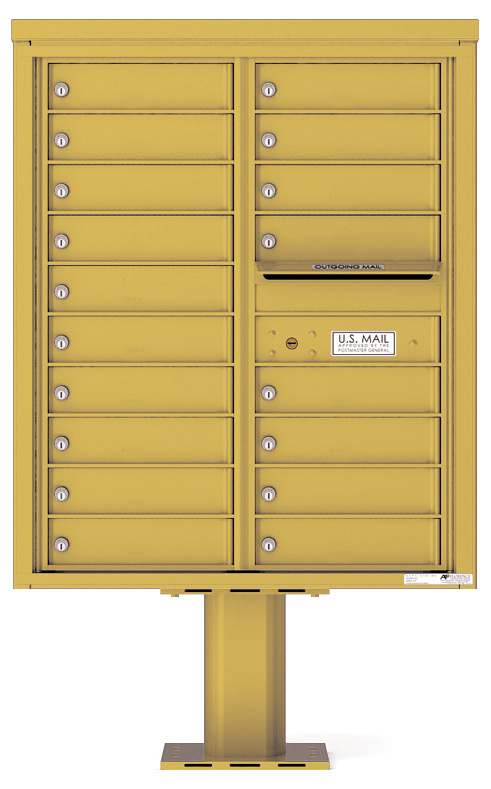 Pedestal Mounted 4C Mailboxes – 18 Tenant Mailboxes