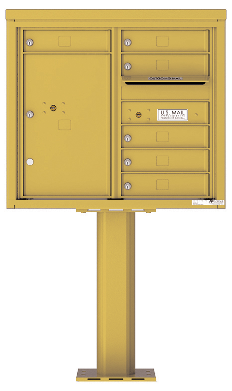 Pedestal Mounted 4C Mailboxes – 6 Tenant Mailboxes