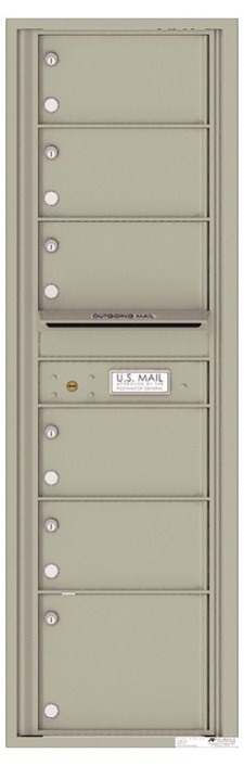 Versatile ™ 4C Mailbox – 15-Doors High – 6 Mailboxes (Private Use)
