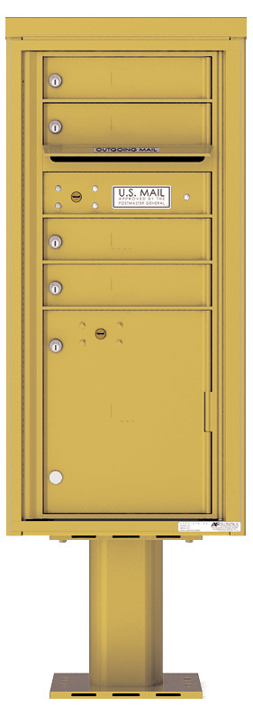 Pedestal Mounted 4C Mailboxes – ADA Max Height - 4 Tenant Mailboxes