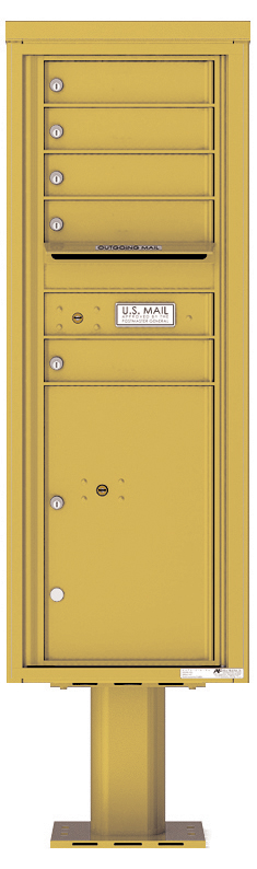 Pedestal Mounted 4C Mailboxes – 5 Tenant Mailboxes