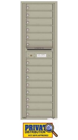 Florence 4C16S-14 14 Private Delivery 4C Horizontal Commercial Mailbox