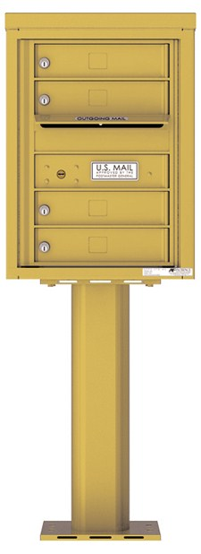 Pedestal Mounted 4C Mailboxes – 4 Tenant Mailboxes